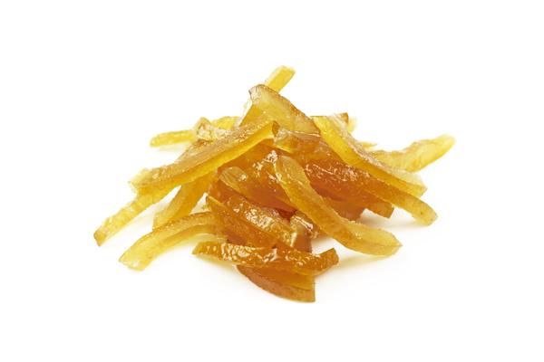 Lamelles d'écorces de citron confit biologiques