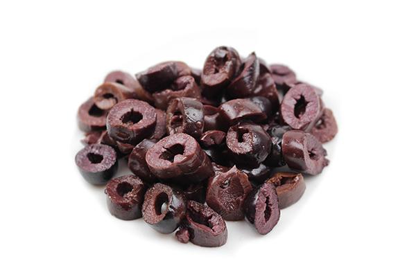 Olives noires (kalamata) en lamelles biologiques