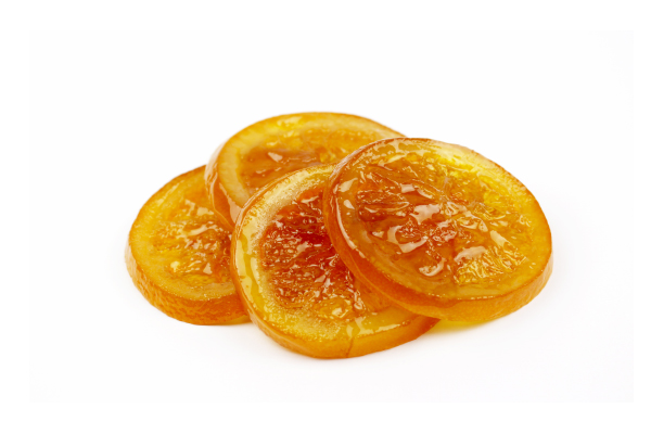 Rondelles d'orange confites biologiques