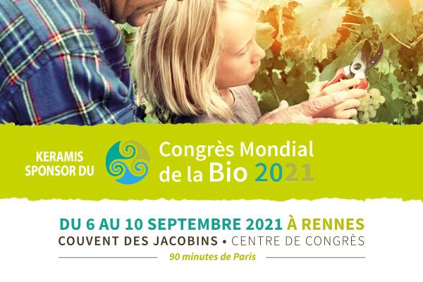 Keramis sponsor du Congrès Mondial de la bio